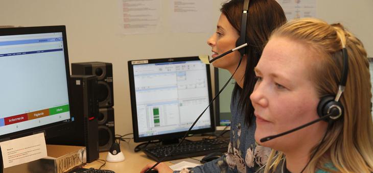 To operatører ved HT Safe mottakssentral