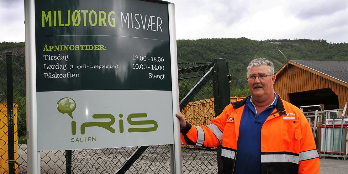 Per Jostein Pedersen er plassjef på Iris Miljøtorg Misvær.
