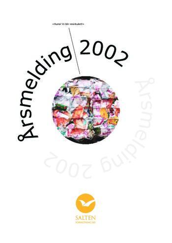 Illustrere forsiden av årsmelding fra 2002