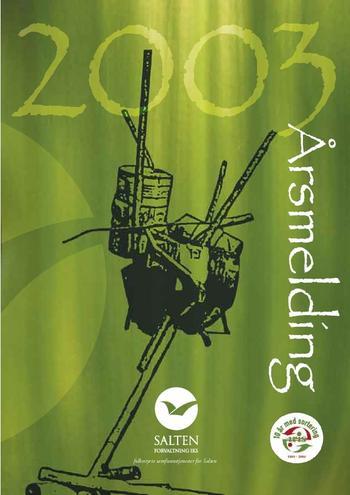Illustrere forsiden av årsmelding fra 2003