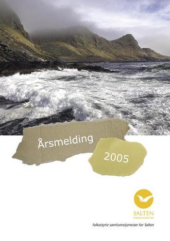 Illustrere forsiden av årsmelding fra 2005
