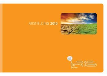 Illustrerer forsiden av 2010 årsmeldingen