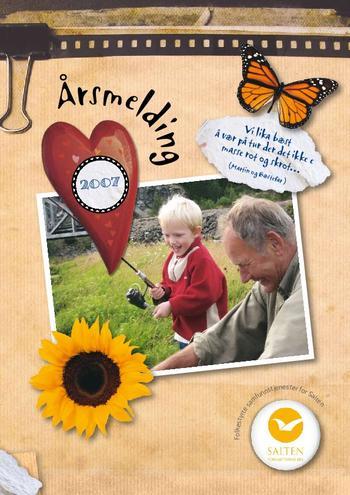 Illustrerer forsiden av 2007 årsmeldingen