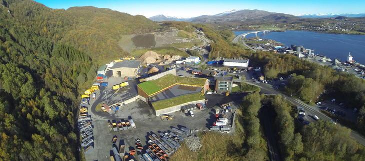 Vårt anlegg på Vikan utenfor Bodø.