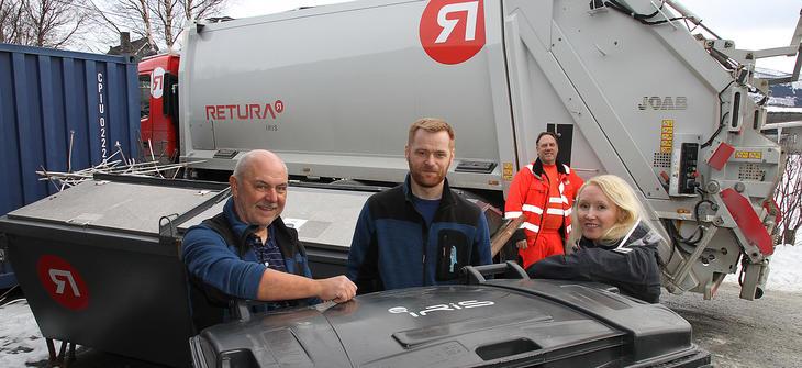 Rådgivning og tansport av avfall er en viktig del av arbeidet til Retura Iris, som her hos Bringsli Rør på Fauske.